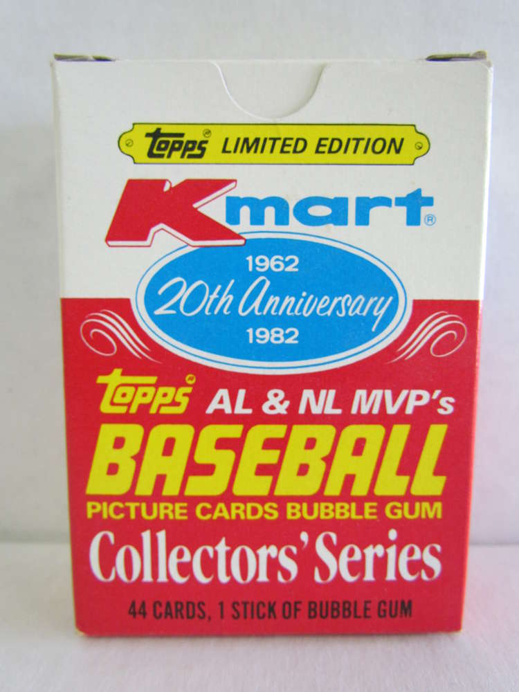 1982 Topps Kmart 20th Anniversary Mvp Baseball Set