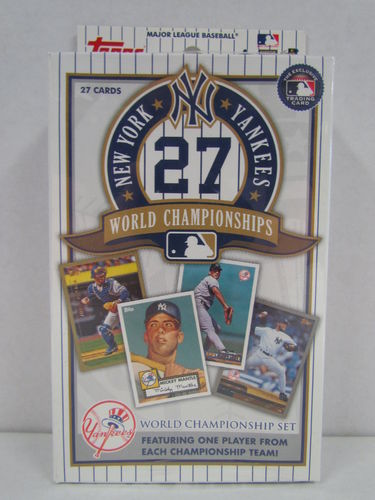 2010 Topps New York Yankees 27 World Championships Set