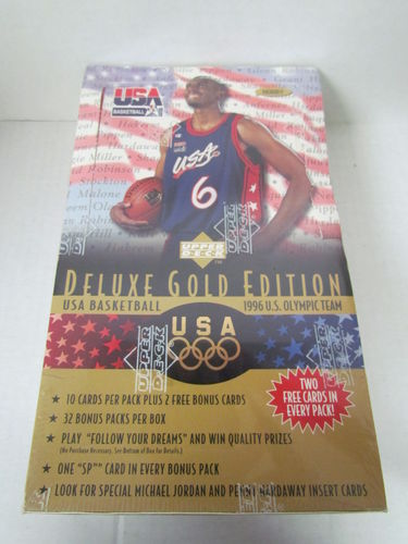 1996 Upper Deck USA Basketball Deluxe Gold Hobby Box