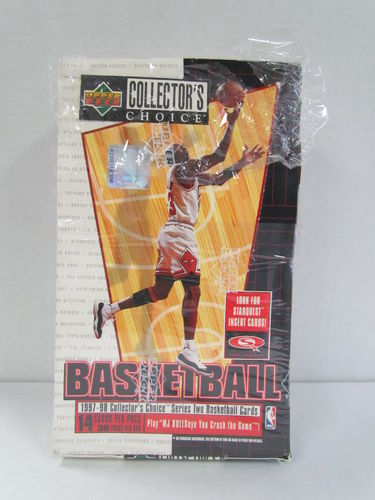 1997/98 Upper Deck Collector's Choice Series 2 Basketball Hobby Box (Shrinkwrap Torn)