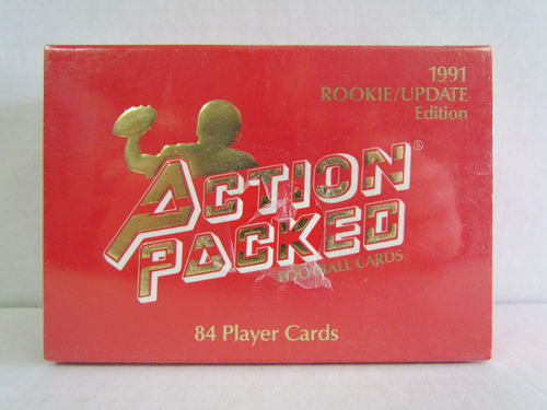 1991 Action Packed Rookie/Update Edition Football Factory Set