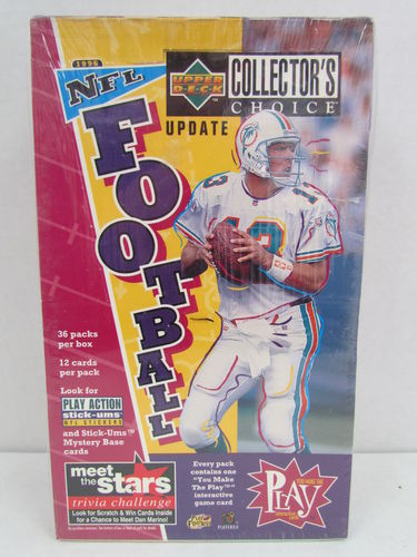 1996 Upper Deck Collector's Choice Update Series Football Hobby Box