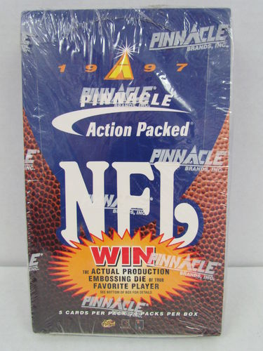 1997 Pinnacle Action Packed Football Box