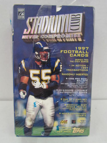 1997 Topps Stadium Club Series 2 Football Hobby Box (Even) (shrinkwrap torn)