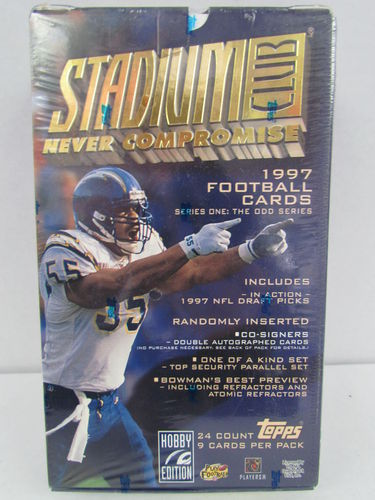 1997 Topps Stadium Club Series 1 Football Hobby Box (Odd)