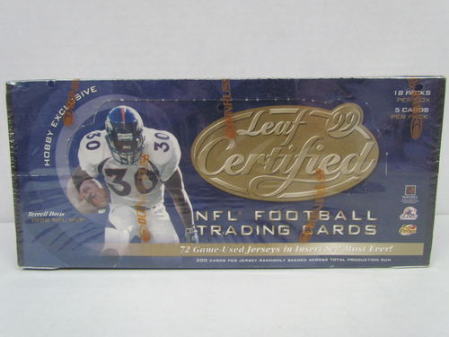 1999 Leaf Certified Football Hobby Box