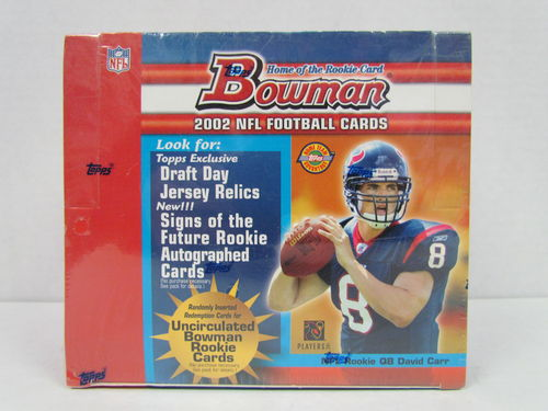 2002 Bowman Football Jumbo Box