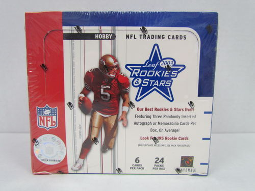 2003 Leaf Rookies & Stars Football Hobby Box