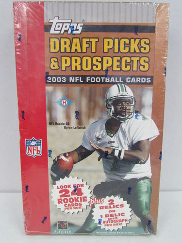 2003 Topps Draft Picks & Prospects Football Hobby Box
