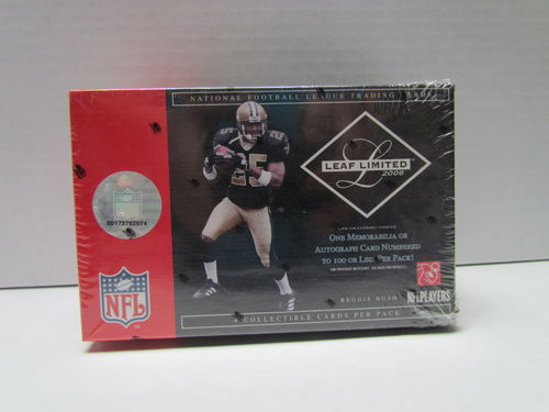 2006 Leaf Limited Football Hobby Box