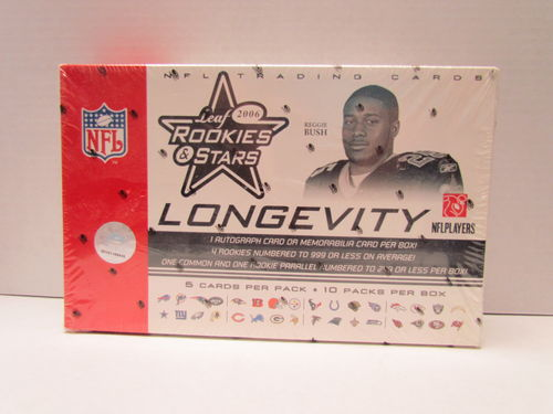 2006 Leaf Rookies & Stars Longevity Football Hobby Box