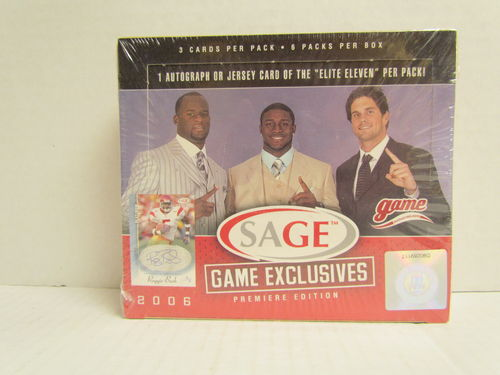 2006 Sage Game Exclusive Football Hobby Box
