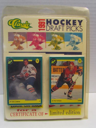 1991/92 Classic Draft Picks Hockey Factory Set (package yellowed)