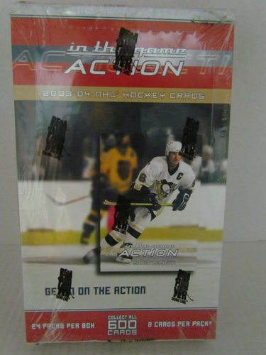 2003/04 In The Game Action Hockey Hobby Box
