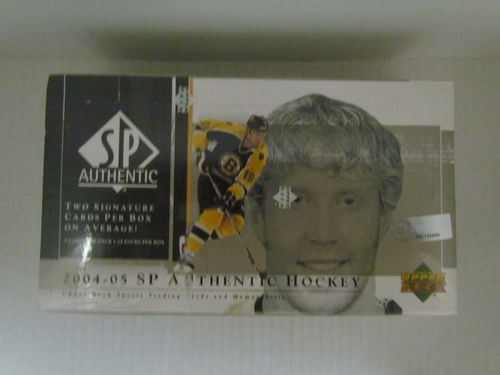 2004/05 Upper Deck SP Authentic Hockey Hobby Box
