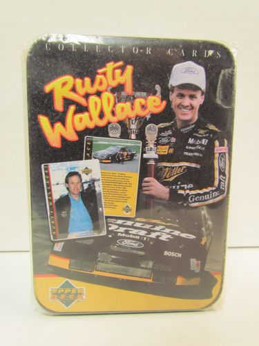 1995 Upper Deck Metallic Impressions Rusty Wallace 5 Card Tin