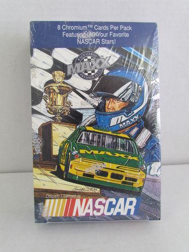 1993 Maxx Premier Plus Chrome Racing Hobby Box