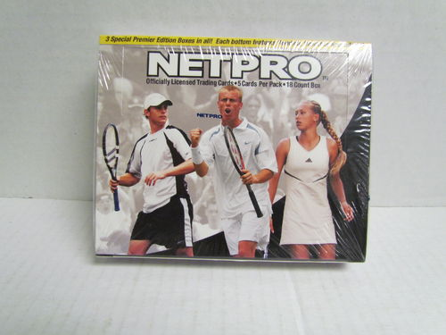 2003 NetPro Premier Edition Hobby Box Andy Roddick Box Bottom