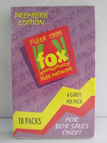 Fleer 1995 FOX Kids Network Trading Cards Retail Box