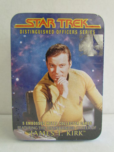 Metallic Impressions Star Trek Distinguished Officers James T. Kirk Metal Card Set