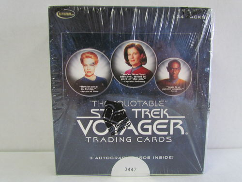 Rittenhouse Star Trek Quotable Voyager Hobby Box