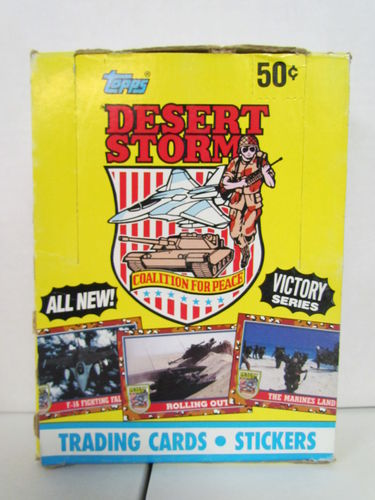 Topps Desert Storm Victory Series Cards Box