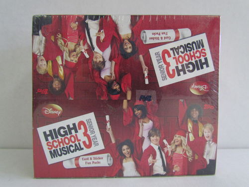 Topps Disney High School Musical 3 Senior Year Trading Cards Box