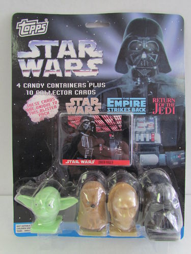 Topps Star Wars Candy Containers and Collector Cards Set