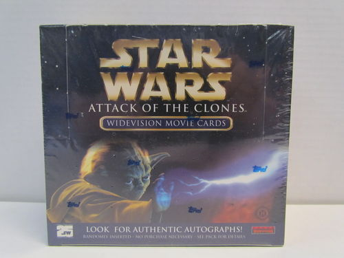 Topps Star Wars Attack of the Clones Widevision Movie Cards Hobby Box