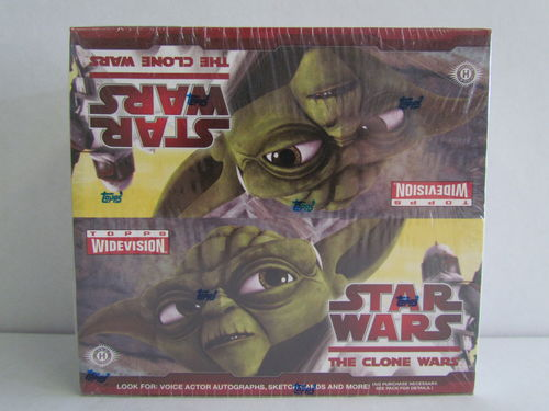 Topps STAR WARS The CLONE WARS Widevision Hobby Box