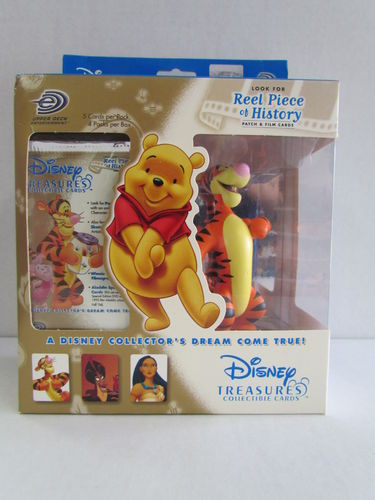 Upper Deck Disney Treasures Collectible Cards and Tigger Figure Box
