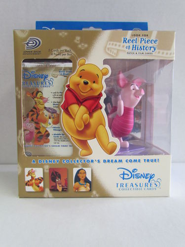 Upper Deck Disney Treasures Collectible Cards and Piglet Figure Box