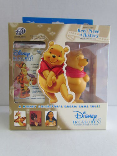 Upper Deck Disney Treasures Collectible Cards and Pooh Figure Box