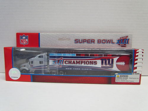 2006 Upper Deck Super Bowl XLII Champion New York Giants Football Peterbilt Tractor Trailer