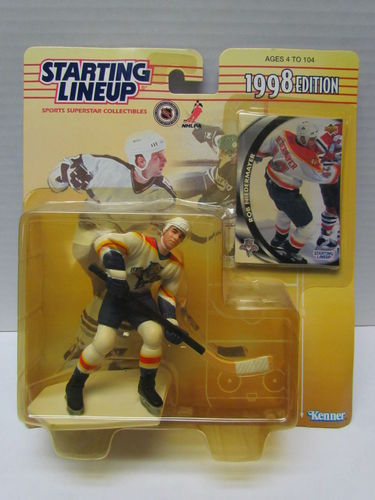 ROB NIEDERMAYER 1998 Starting Lineup Hockey Figure (package yellowed)