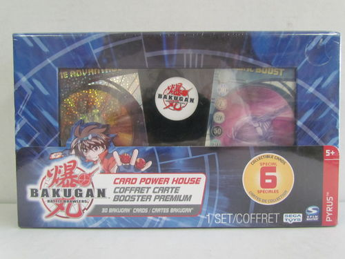 Bakugan Card Power House Card Booster Premium