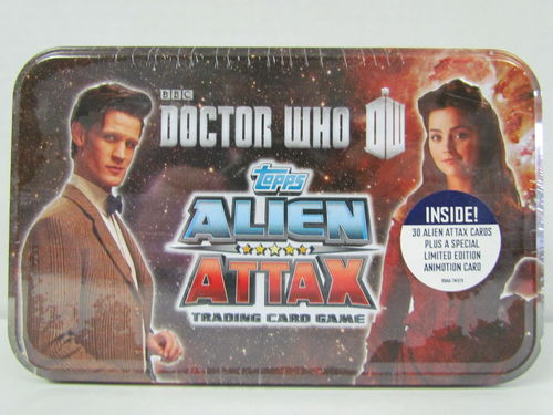Topps Doctor Who Alien Attax Tin