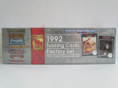 1992 TSR Advanced Dungeons and Dragons Fantasy Collector Card Factory Set
