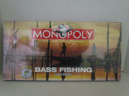 BASS FISHING Lakes Edition Monopoly
