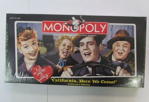 I LOVE LUCY CALIFORNIA HERE WE COME! Monopoly