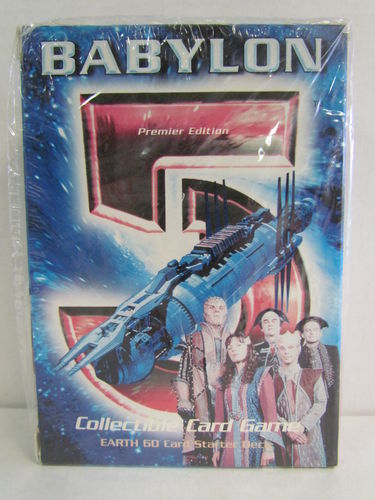 Babylon 5 Collectable Card Game Starter Deck EARTH (shrinkwrap ripped)