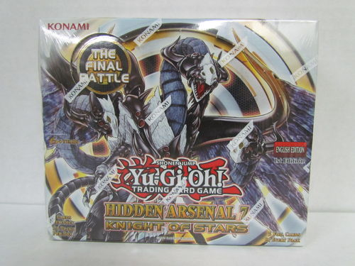YuGiOh Hidden Arsenal 7 Knight of Stars 1st Edition Booster Box