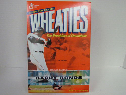 Wheaties BARRY BONDS Single Season Home Run Champion Box