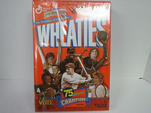 Wheaties 75 Years of Champions Box plus Free Calendar