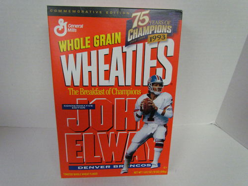 Wheaties JOHN ELWAY Commemorative Edition Box