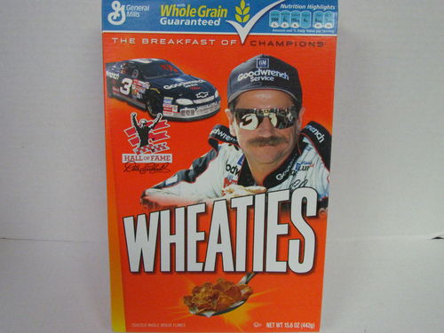 Wheaties DALE EARNHARDT Hall of Fame Box