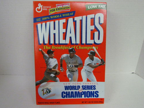 Wheaties NEW YORK YANKEES 1998 World Series Champions Box