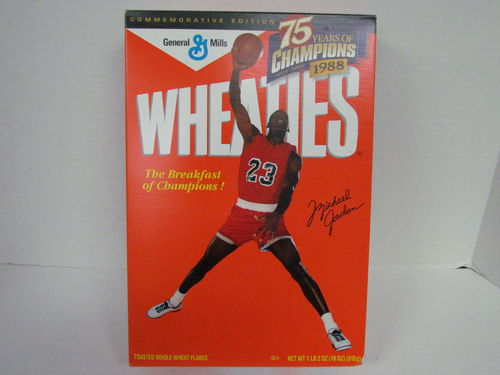 Wheaties MICHEAL JORDAN Commemorative Edition Box