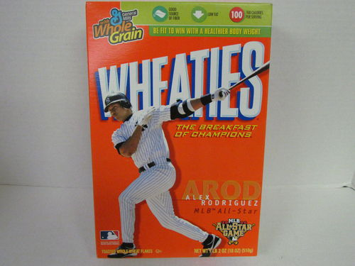 Wheaties ALEX RODRIGUEZ 2006 All-Star Game Box
