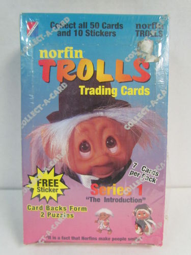Collect-A-Card Norfin Trolls Series 1 Trading Cards Box